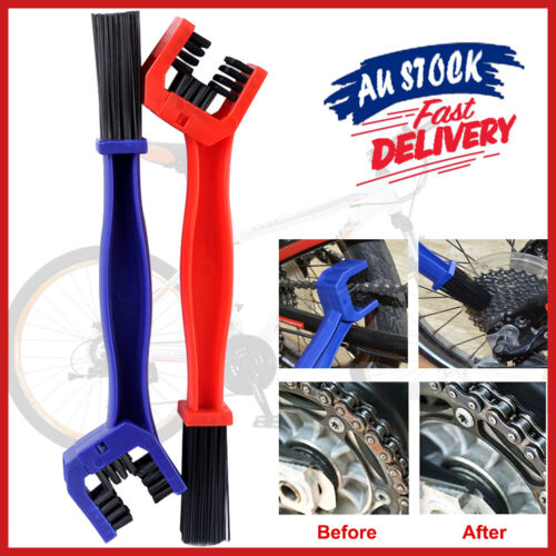 Motorcycle Cleaning Brush Scrubber Cycle Bike CU Cleaner Tool Chain Gear Bicycle