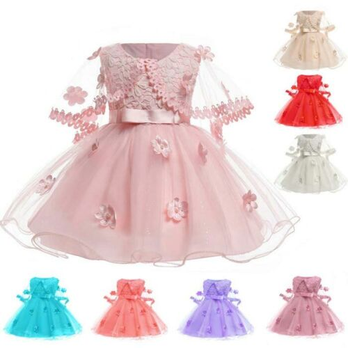 30fff42d53a Dress formal kid girl bridesmaid dresses baby wedding princess party tutu  flower