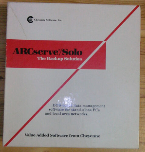 ArcServe/Solo Backup Software for Netware