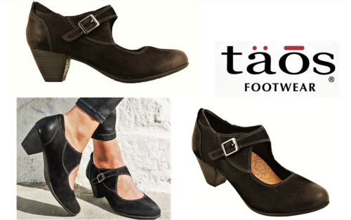 Taos Shoes Studio leather comfort dress heels with adjustable strap Taos Studio