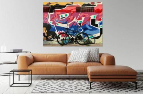 COLORFUL  PHOTOGRAPHY Graffiti And Urban Art  Canvas home wall choose your size