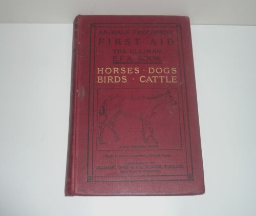 ANIMALS TREATMENT FIRST AID THE ELLIMAN E.F.A.  HORSES,DOGS,BIRDS,CATTLE c1900