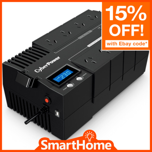 CyberPower BR850ELCD BRICs LCD 510W 850VA Power Supply Surge Protector 8 Way UPS