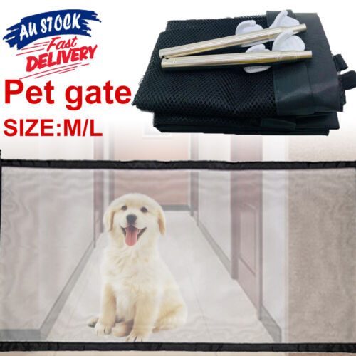 Safety Enclosure Dog Gate Barrier Mesh Safe Pet Anywhere Magic Guard&Install