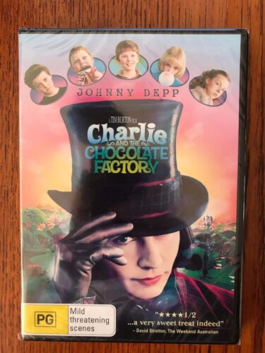 Charlie And The Chocolate Factory DVD Region 4 New Johnny Depp