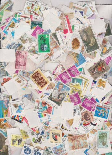 Australian Decimal bulk stamp pack approximately 500 stamps measured by weight