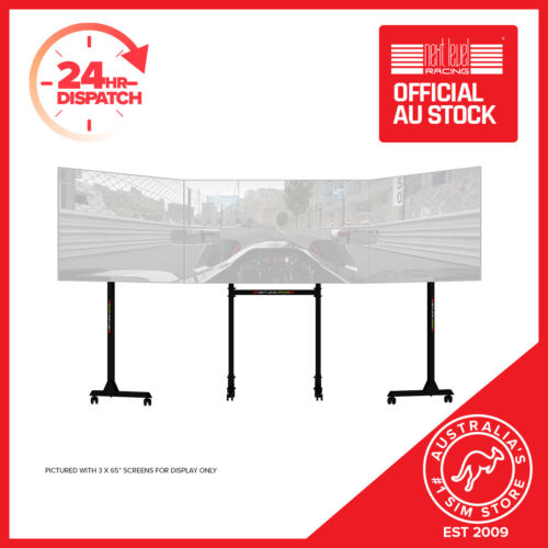 Next Level Racing Free Standing Triple Monitor Stand Supports 3 x 32- 65""