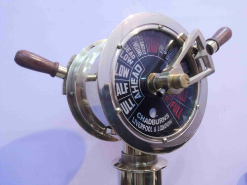 Brass Ship's Engine Order Telegraph Antique Home Decorative Collectible