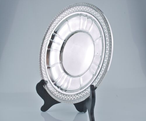 "WATSON Sterling Silver Reticulated 9 ""  Sandwich Plate A 414"
