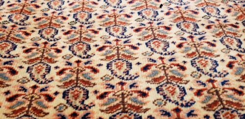 Exquisite Late 1915's Antique  Natural Dyes Wool Pile Armenian Hereke Rug 8x11ft