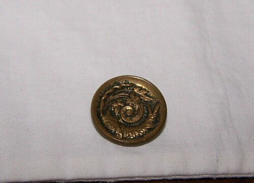 VINTAGE ANTIQUE RAISED FISH METAL CLOTHING BUTTON-LOOP SHANK-SEW-ART-CRAFT