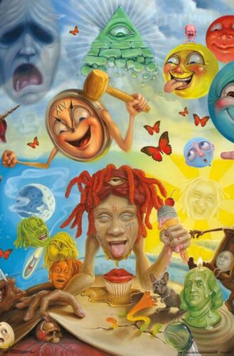 TRIPPIE REDD - ART COLLAGE POSTER - 22x34 - 17668