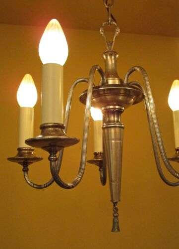 Vintage Lighting lovely 1920s silver chandelier