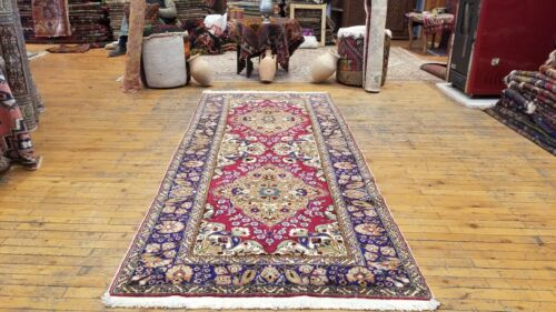 "Beautiful Vintage 1950-1960s Legendary 3'3""×7'9"" Wool Pile Hereke Runner Rug"
