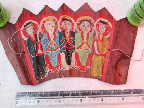 Vintage Yao Mien Taoist Ceremonial Painting 14 inches X 6 inches