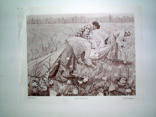 """Vintage Original 1975 Signed Limited Edition Print """"Just Cotton"""", by John Brown"""