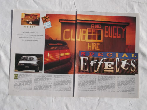 Holden SV91 Original Article removed from a Magazine HSV