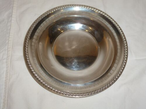 Beautiful Rogers Sterling Silver  Rope Twist and Pierced Rim Plate