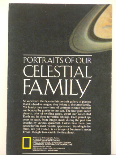 Vintage 1990 National Geographic Poster Portraits of Our Celestial Family
