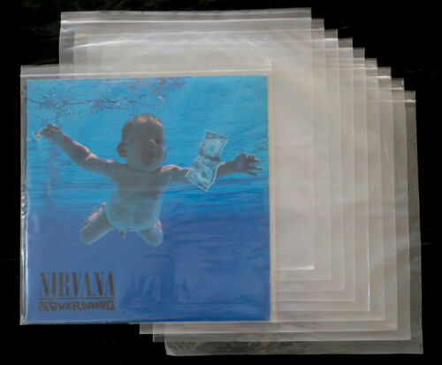 """100x 12"""" Vinyl LP ZIP-LOCK Poly Outer Sleeves (Sealable Plastic Cover) NEW"""