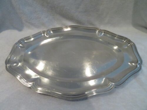 20th c french sterling 950 silver large oval platter French 18th st 1404g 49,5oz
