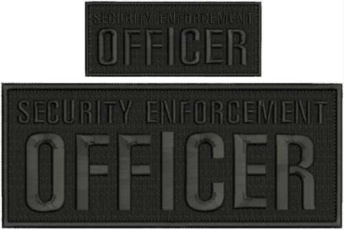 WARRANT Task Force embroidery patches 4x10 and 2x5 hook on back grey