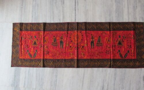 VINTAGE INDIAN TRIBAL HANDMADE WALL DECOR ETHNIC PATCH EMBROIDERY TAPESTRY #05