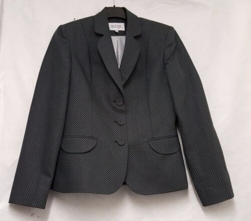 Next Fitted Tailored Jacket Grey Jacket Size10 Women's Single Breasted Jacket
