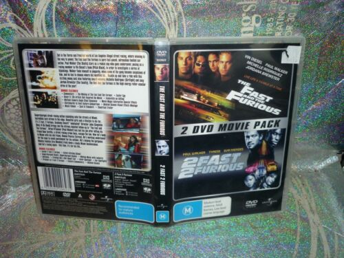 THE FAST AND THE FURIOUS + 2 FAST 2 FURIOUS (2-DISC) (DVD, M) (144256)