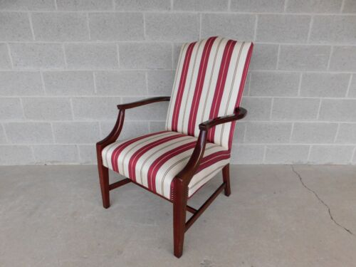 STATESVILLE CHAIR CO.Regency Style Mahogany Frame Library Arm Chair