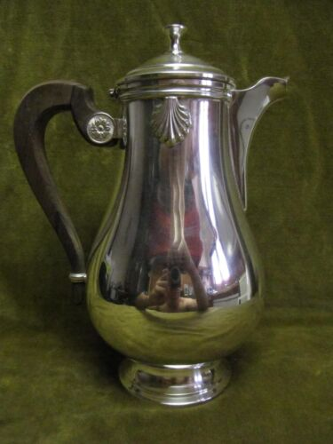 Vintage French silverplate gallia christofle coffee pot vendome shells