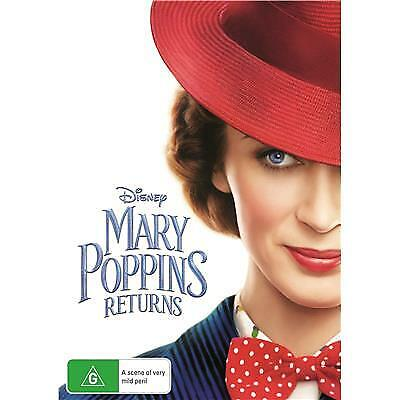 MARY POPPINS RETURNS DVD, NEW & SEALED, 2019 RELEASE, FREE POST