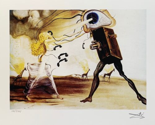 Salvador Dali MODERN RHAPSODY Facsimile Signed & Numbered Giclee Art