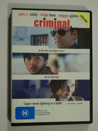 Criminal DVD Feat John C Reilly Maggie Gyllenhaal Diego Luna GOOD CONDITION