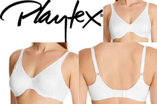 Playtex Secrets Smoothing Minimising Bra Side Support Underwire White RRP $54.95
