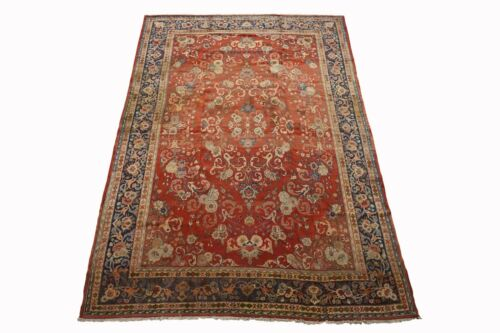 Antique 10X14 Agra Circa 1900 Hand-Knotted Wool Area Rug w/ Abrash (9.7 x 13.7)