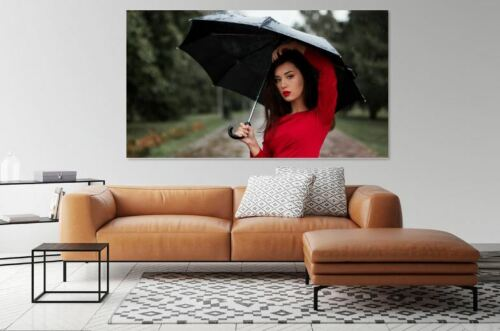 LOVELY model-girl-rainy-day- high quality Canvas painting  Home decor