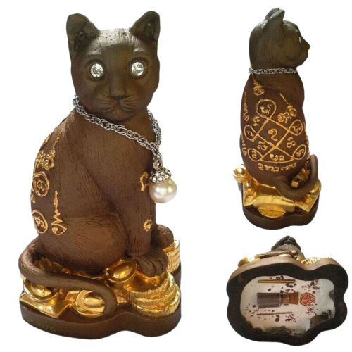 Thai occult sorcery gamble CAT calling Money Wealth Fortune Lucky Thai amulet