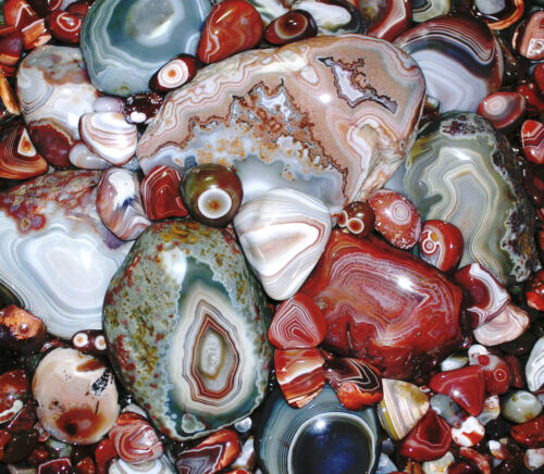 Collector's 'LAKE SUPERIOR AGATE AGATES' Set of Coasters 'EXCLUSIVE' jgspanglers