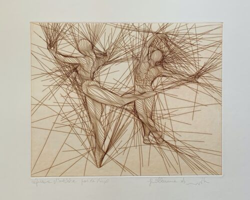 Guillaume Azoulay LARLECCHINO Hand Signed Limited Edition Art Etching 2017