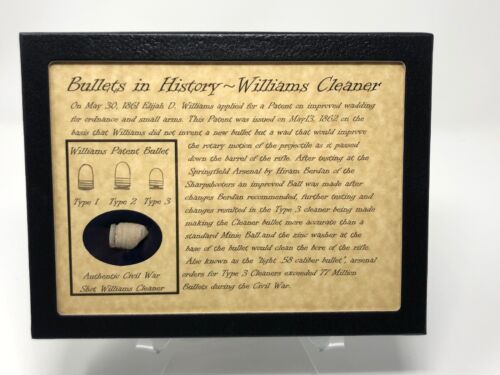 The Civil War Williams Cleaner Bullet Relic Case with Authentic Cleaner and COABullets - 103996