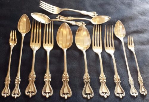 Towle OLD COLONIAL pat 1895 STERLING utensil lot fork spoon Nice collection