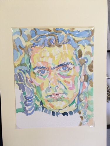 Portrait Painting,Woman's Face.Frida Kahlo Style Model.Strong,Colourful.Fauvist