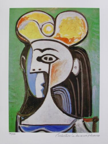 Pablo Picasso GIRL WITH BLACK HAIR Estate Signed Limited Edition Giclee Art
