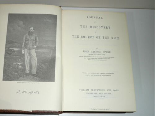JOURNAL OF THE DISCOVERY OF THE SOURCE OF THE NILE BY JOHN H SPEKE FACSIMILE