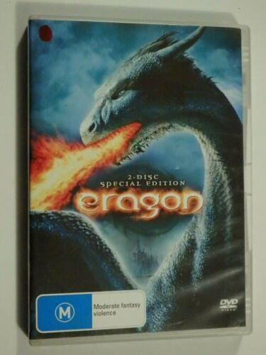 Eragon 2 Disc Set DVD Feat Ed Speleers Jeremy Irons Sienna Guillory GOOD COND