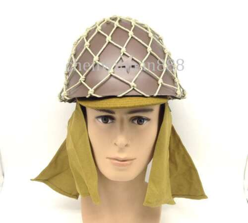 WWII JAPANESE MILITARY 90 ARMY HELMET WITH HELMET COVER AND CAMOUFLAGE NET CAPJapan - 156435