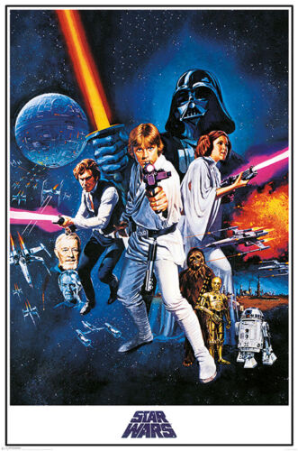 STAR WARS - NEW HOPE - CLASSIC POSTER 24x36 - MOVIE 3038