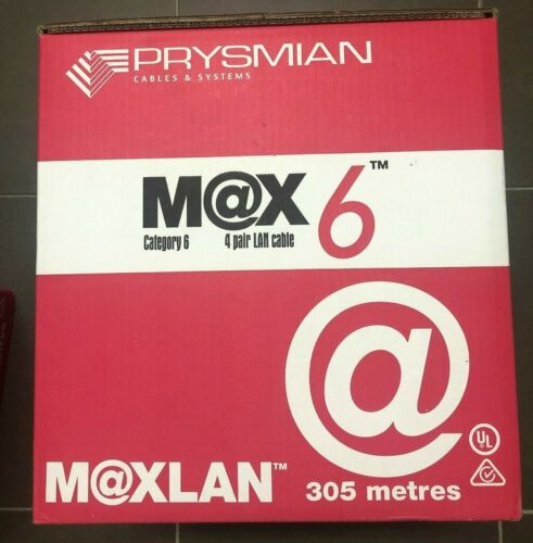 Prysmian Australia M@X6  CAT6 LAN Cable  , ACMA and Telstra approved