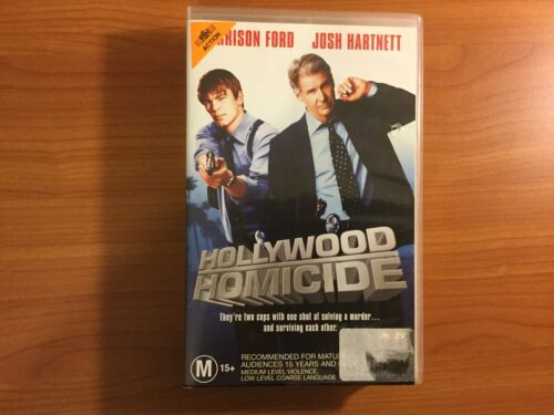Hollywood Homicide VHS Video with Harrison Ford & Josh Hartnett